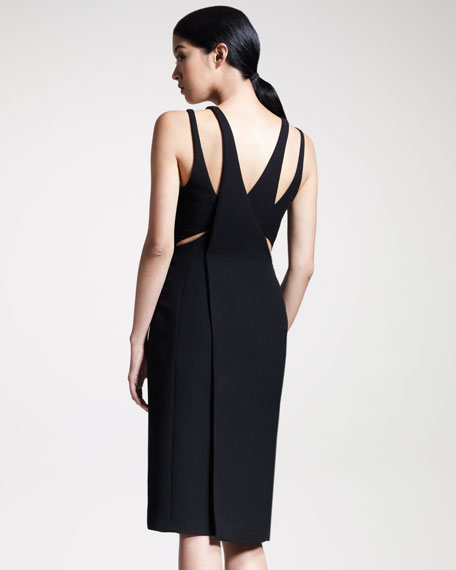 Contour Wrap-Back Dress