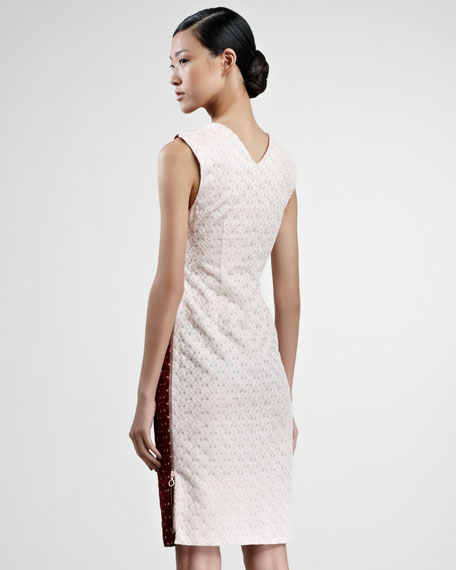Ombre Crochet Contrast-Front Dress