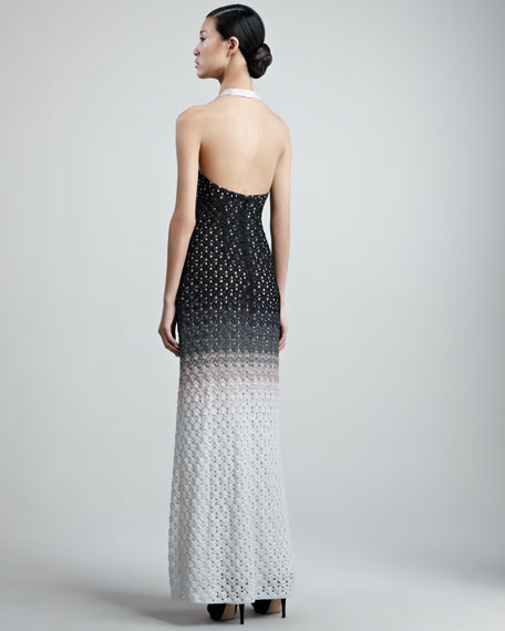 Crocheted Halter Gown