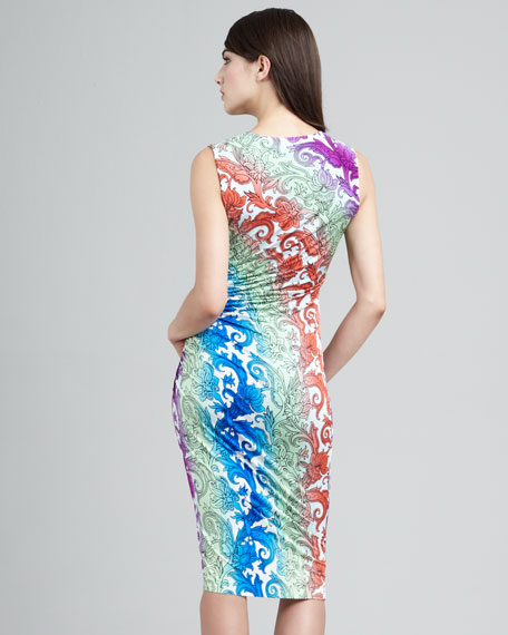 Printed Sleeveless Sheath Dress