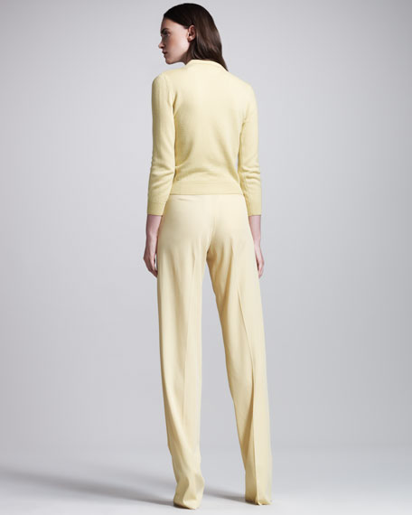 Fluid Gabardine High-Waist Pants