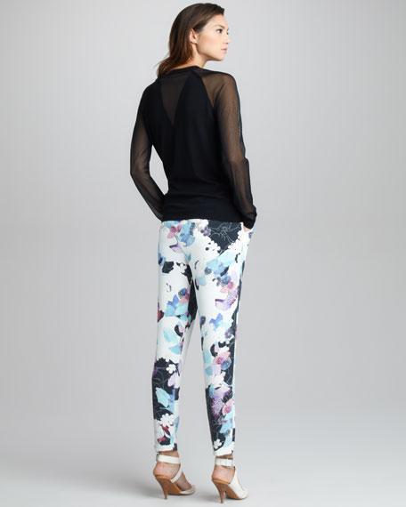 Scrapbook Floral-Print Pants