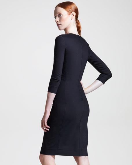 Techno Stretch-Cotton Dress