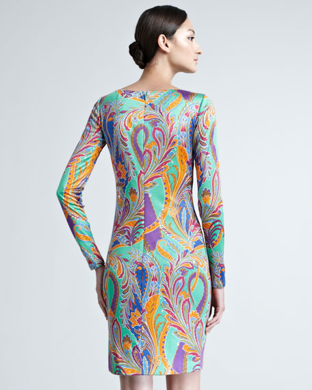 Patty Paisley Long-Sleeve Dress