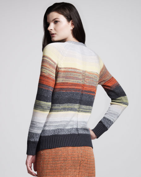 Degrade-Stripe Pullover