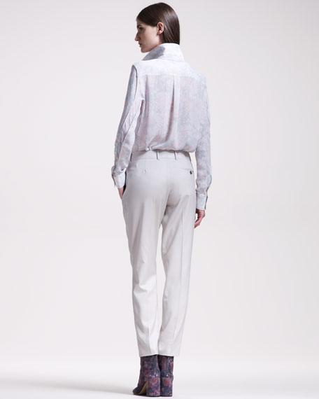 Flat-Front Gabardine Pants