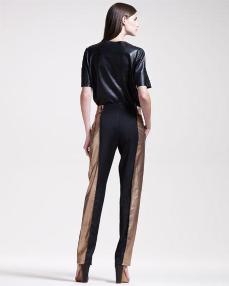 Metallic-Leafed Pants
