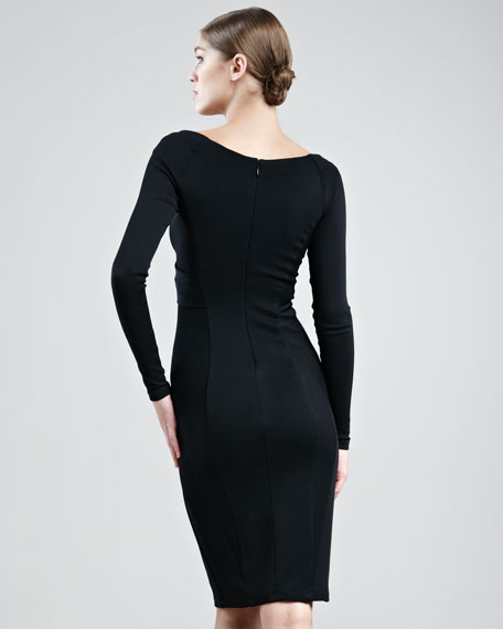 Jersey V-Neck Dress