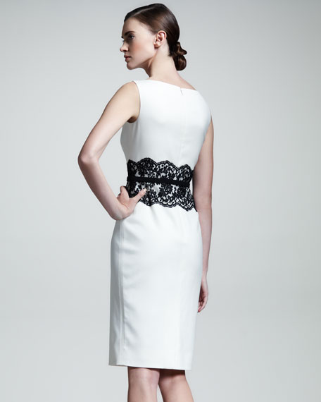 Lace-Waist Sheath Dress