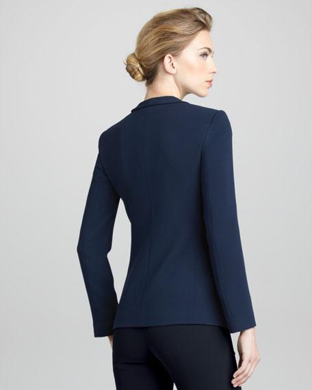 Techno-Cady Shawl-Collar Jacket