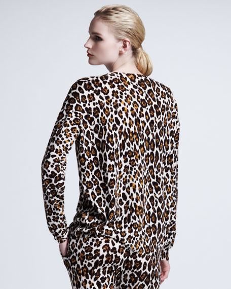 Leopard-Print Pullover