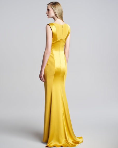 Crepe-Satin Gown