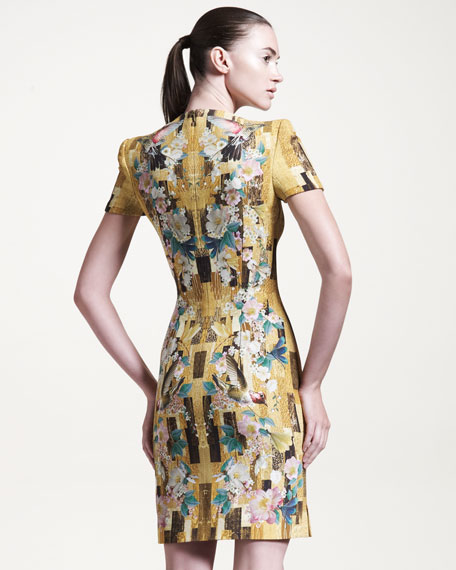Hummingbird-Print Cady Dress