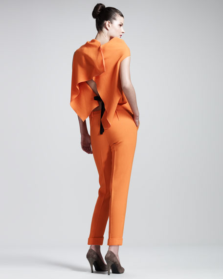 Carillon Double-Face Crepe Trousers