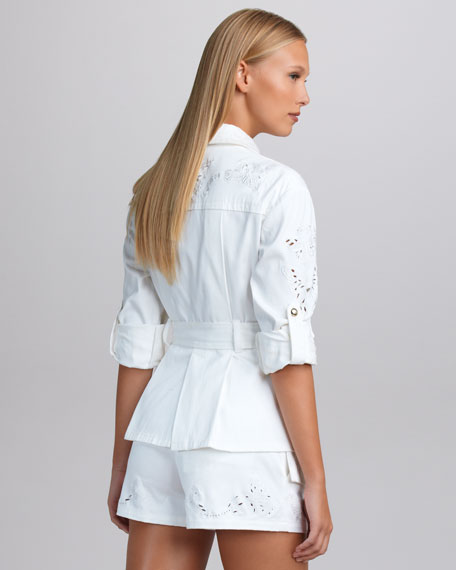 Butterfly-Embroidered Jacket