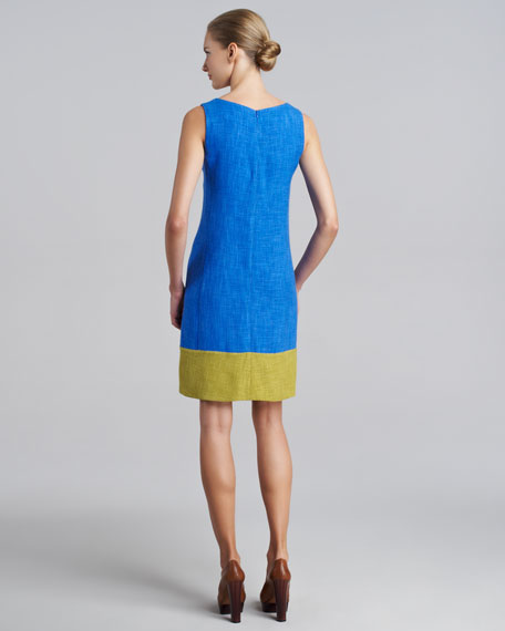 Colorblock V-Neck Dress