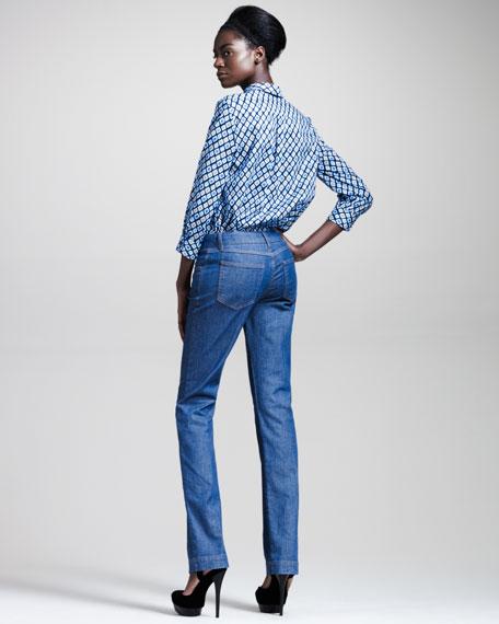 Medium Wash Straight-Leg Jeans