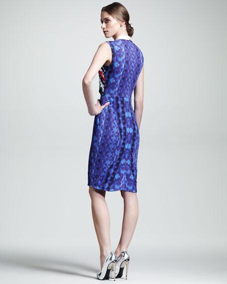 Stretch-Crepe X Dress