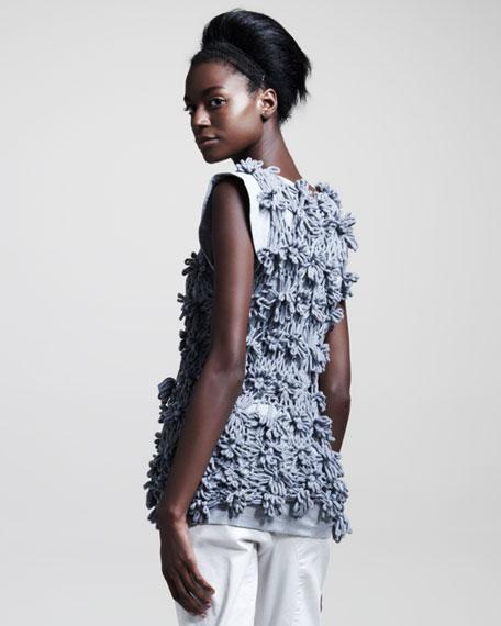 Knit Flower Pullover