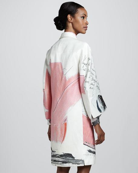 Printed Coat, Pink