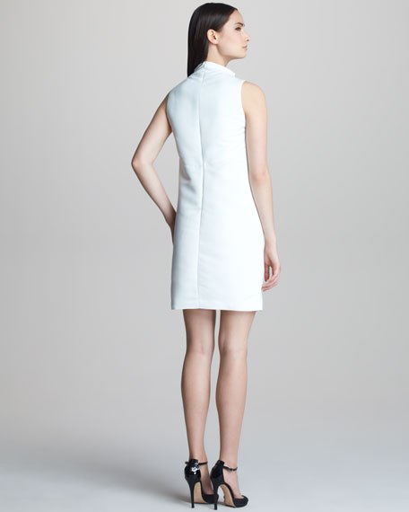Sleeveless Shift with Funnel Neckline