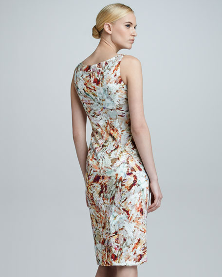 Crystal-Print Sleeveless Dress