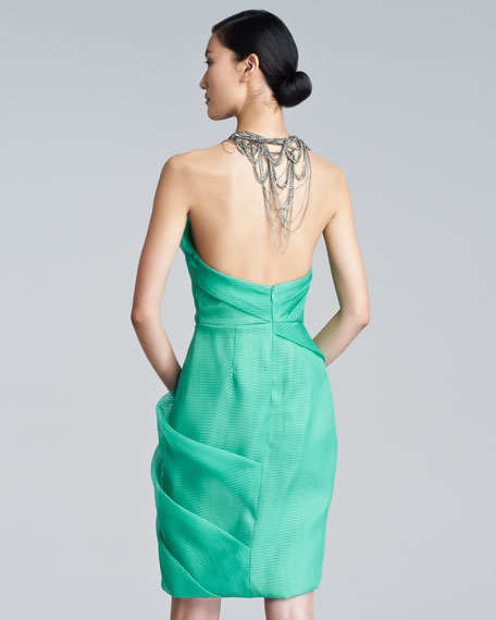 Silk Chain-Halter Dress