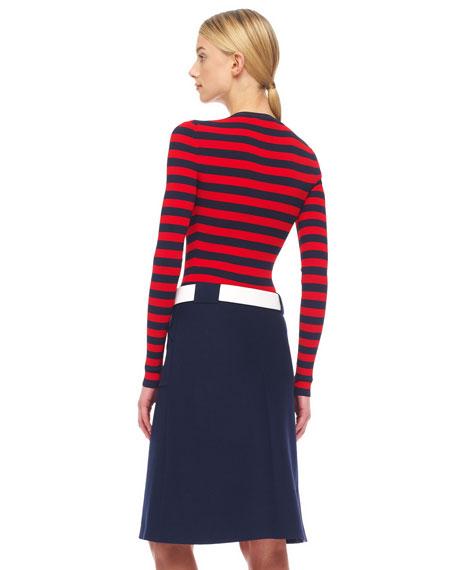 Front-Zip Utility Skirt