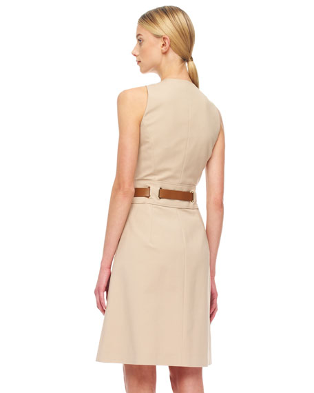 Belted Twill Dress