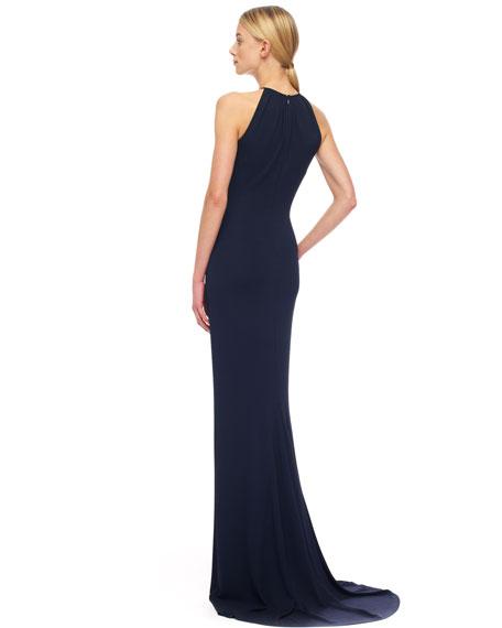 Twist-Waist Jersey Gown