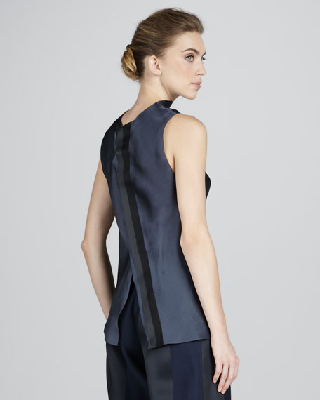 Sleeveless Satin Tunic