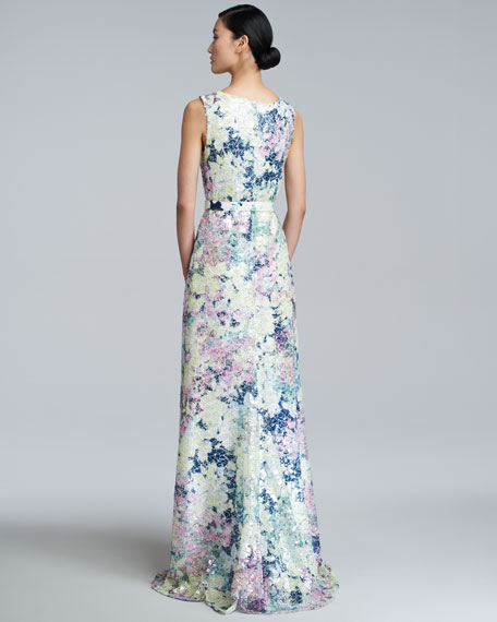 Jane Long Floral-Print Dress
