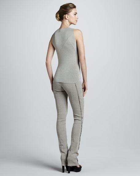 Exposed-Seam Pull-On Pants, Hemp