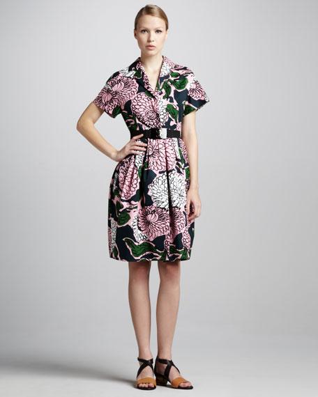 Floral-Print Coat Dress