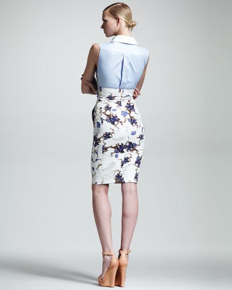 Nina Printed Combo Dress