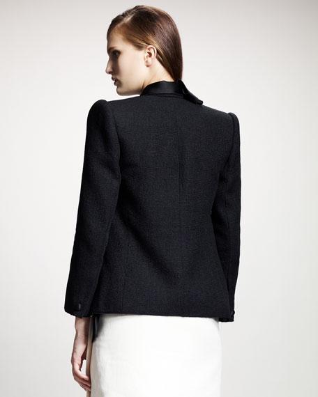 Split-Hem Jacket, Black