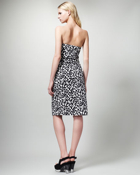 Animal-Print Strapless Dress