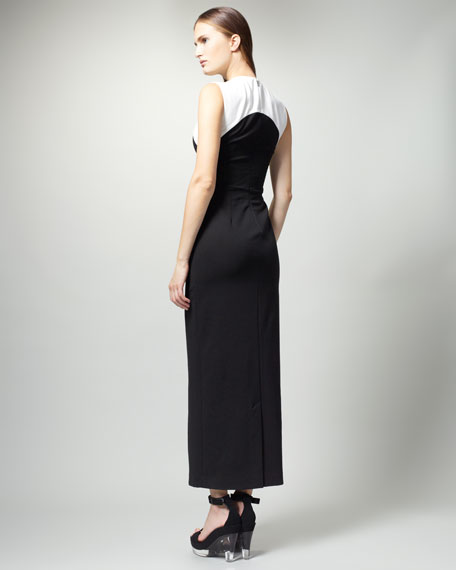 Long Colorblock Dress