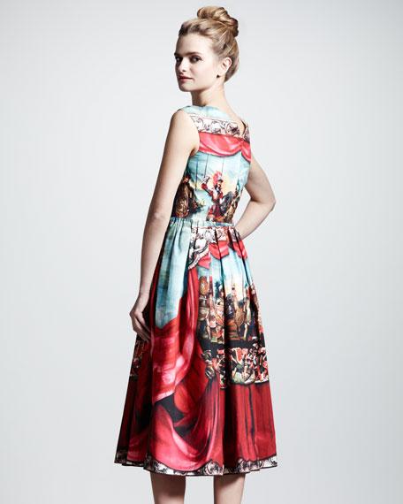 Puppet-Print Poplin Dress