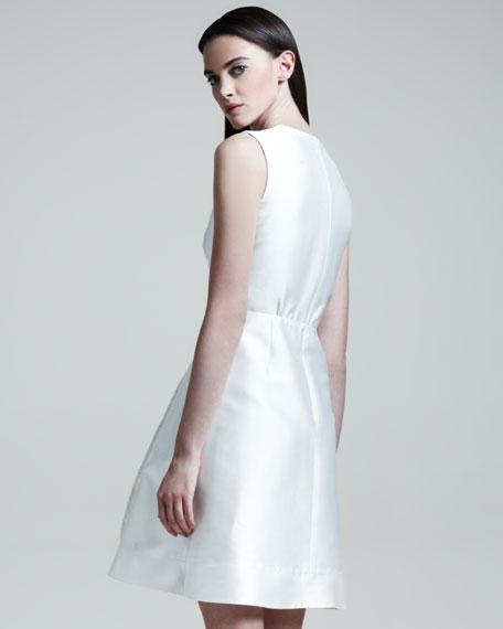 Sleeveless Lace Bib Dress