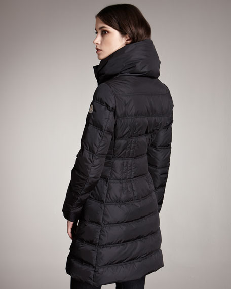 Knit-Collar Puffer Jacket