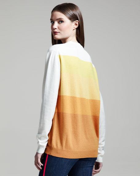 Colorblock Cashmere Pullover
