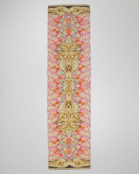 Floral-Print Stole