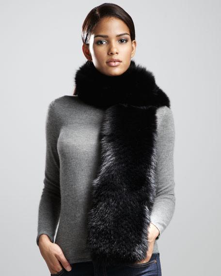 Fox Fur Stole, Black