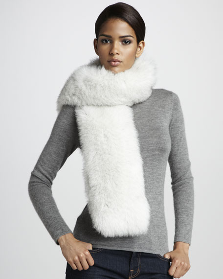 Fox Fur Stole, White