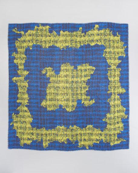 Printed Wool Voile Scarf