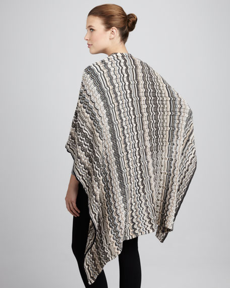 Zigzag Knit Cape