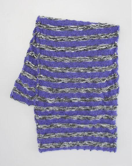 Melange Striped Infinity Scarf