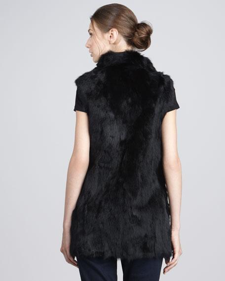 Long Rabbit Fur Vest