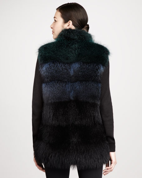 Tricolor Raccoon Fur Vest